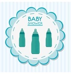 Bottle of baby shower card design vector image