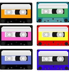 Cassete set vector image