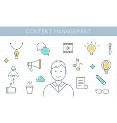 Content Management and Marketing vector image vector image