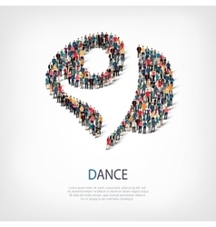 dance people sign 3d vector image vector image