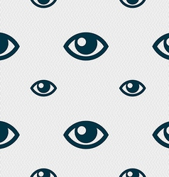 Eye sign Seamless pattern with geometric texture vector image