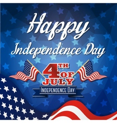 Happy independence day celebration greeting card vector image vector image