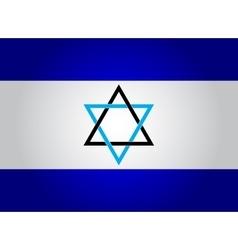 National flag of Israel vector image