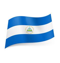 national flag of nicaragua white horizontal vector image vector image