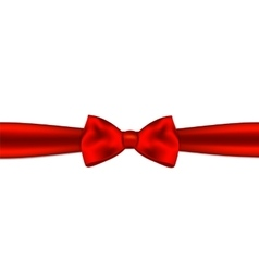 Red gift bow with ribbon vector image