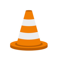 traffic cone icon flat style vector image