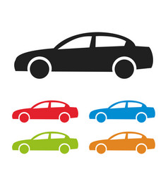 car icon isolated on white background vector image vector image