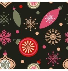 Christmas decorations on dark vector image