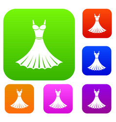 dress set collection vector image