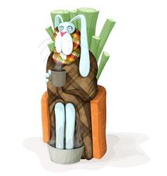 sick rabbit vector image