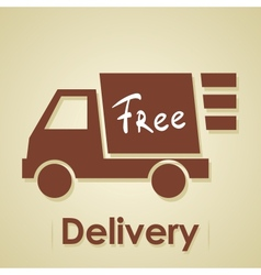Truck free delivery vector image vector image