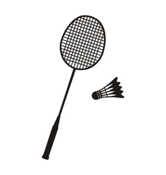 Badminton Racket and Shuttlecocks vector image