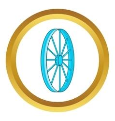 Bicycle wheel symbol icon vector image