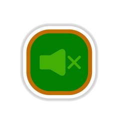 Color label design icon design button music sound vector