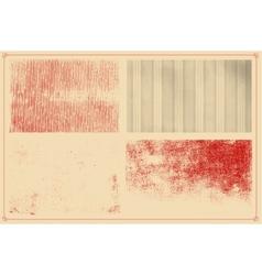 Grunge textures set background vector image vector image
