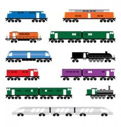 locomotives vector image vector image