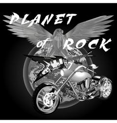 planet of rock vector image vector image