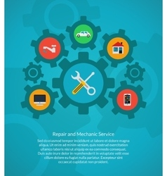 Repair and mechanic service vector image