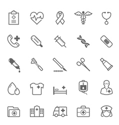 Set of Outline stroke Medical icon vector image