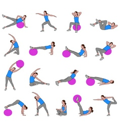 women doing pilates vector image