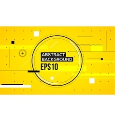 Abstract yellow line background vector image