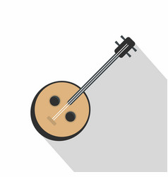 african guitar icon flat style vector image