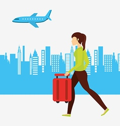 airport concept design vector image