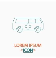 Ambulance computer symbol vector