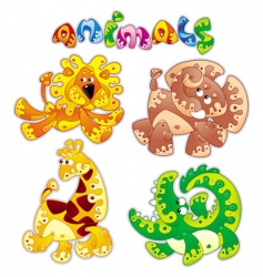 Animals cartoon vector