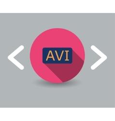 Avi icon vector