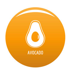 avocado icon orange vector image