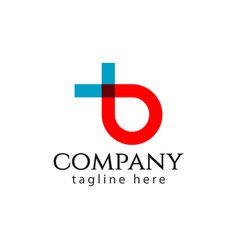 B company logo letter template design vector