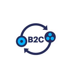 B2c icon on white vector