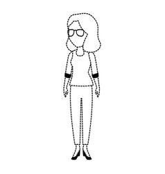 Beautiful teacher female avatar character vector
