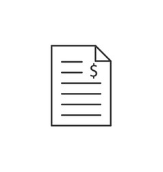 bill invoice line icon simple modern flat for vector image