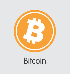Bitcoin - cryptocurrency logo vector