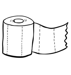 Black and white freehand drawn cartoon toilet vector