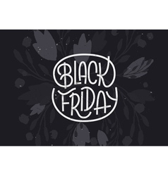 Black Friday lettering on dark background vector image