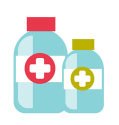 bottles with tablets cartoon vector image