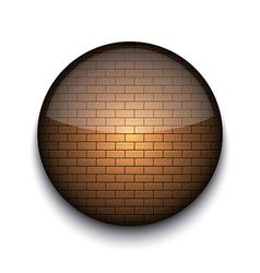 Brick Pattern App Icon vector image