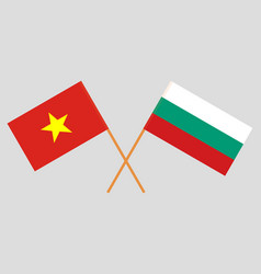 Bulgaria and vietnam flags vector