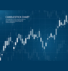 candlestick chart financial market growth graph vector image