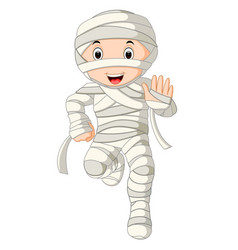 cartoon egyptian mummy vector image