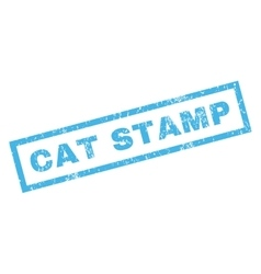 Cat stamp rubber stamp vector