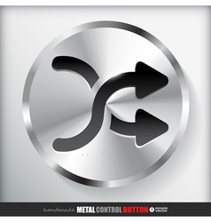 Circle metal shuffle button applicated for html vector