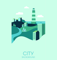 city background with modern high buildings vector image