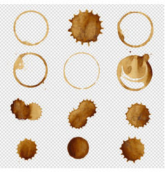 Coffee stain big set vector