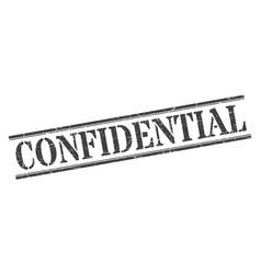 Confidential stamp confidential square grunge vector