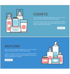 Cosmetic and skin care web vector