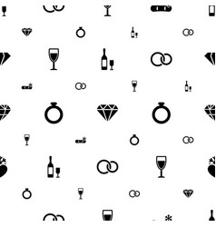 crystal icons pattern seamless white background vector image